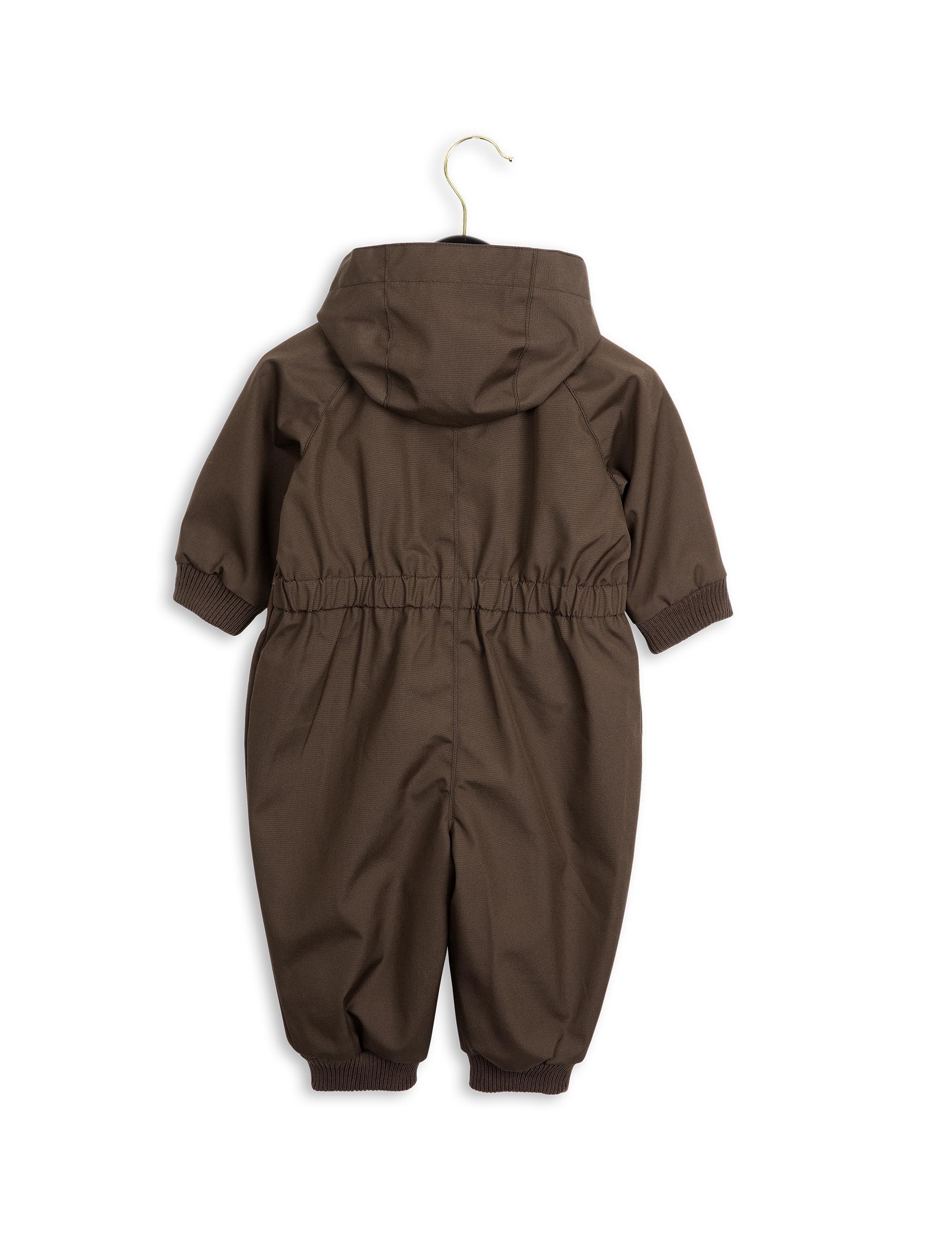 187 Mini Rodini Pico Baby Overall Dk Brown Butik Paletti