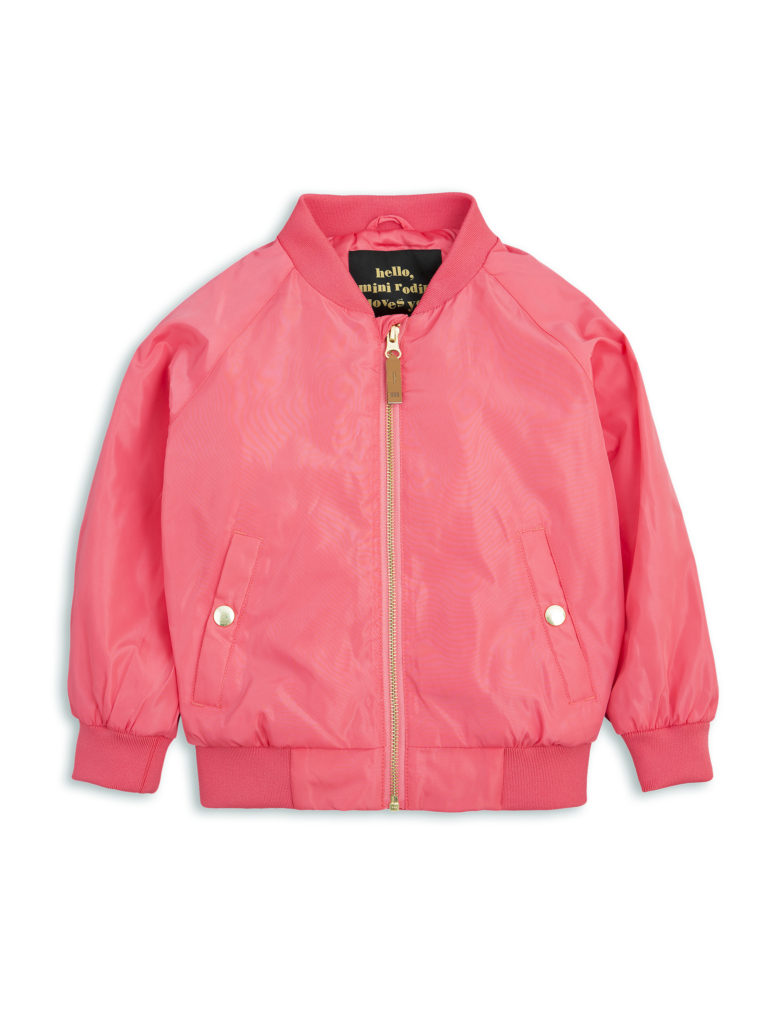 1711011037 mini rodini frog baseball jacket cerise 1