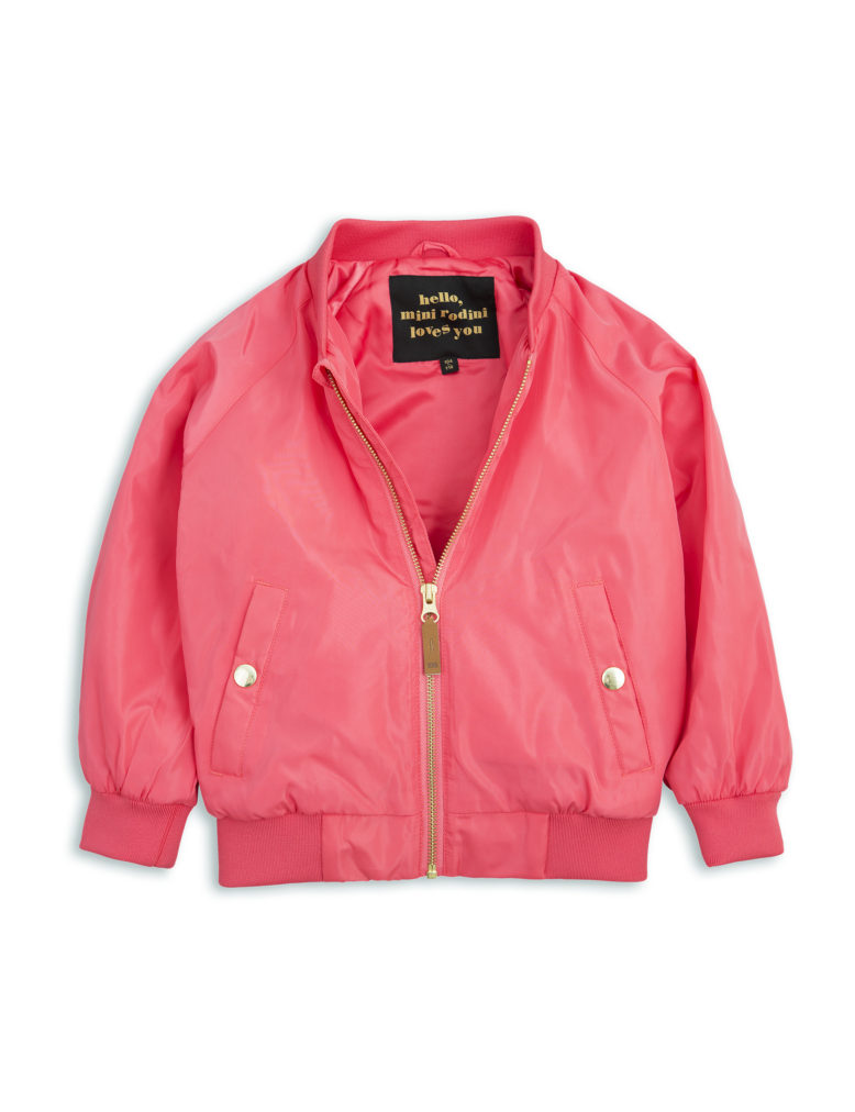 1711011037 mini rodini frog baseball jacket cerise 2