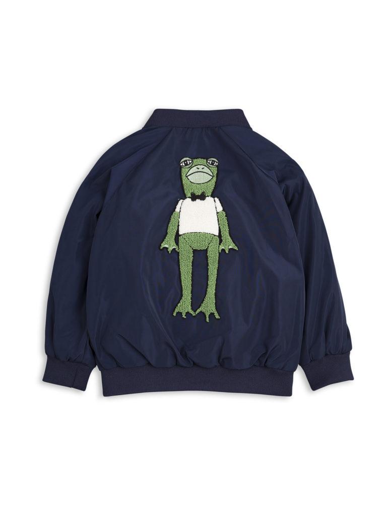 1711011067 mini rodini frog baseball jacket navy 3