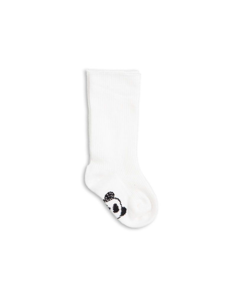 1716012110 mini rodini panda baby sock 4-pack white 1
