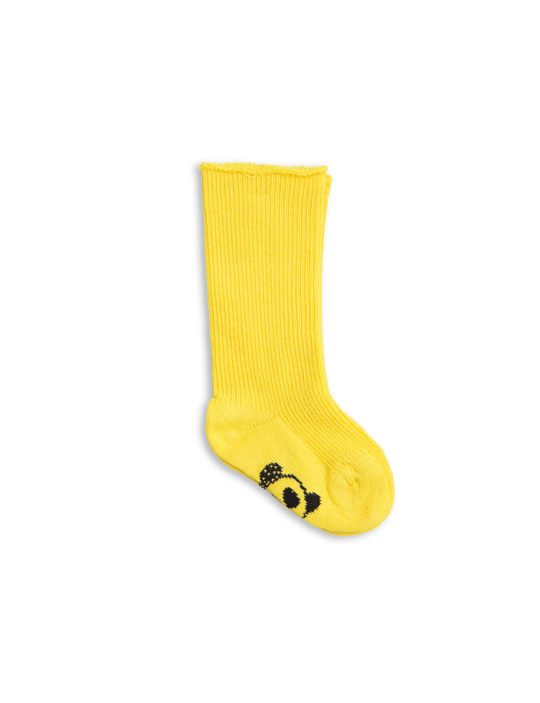 1716012123 mini rodini panda baby sock 4-pack yellow 1