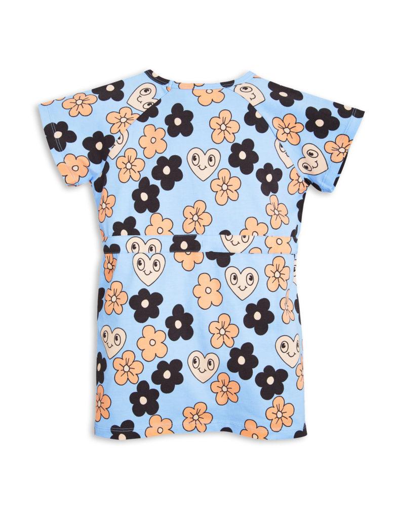 1715011150 2 mini rodini flowers tee dress light blue