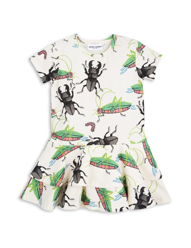 1715011611 1 mini rodini insects frill dress off white