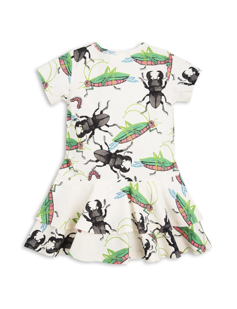 1715011611 2 mini rodini insects frill dress off white