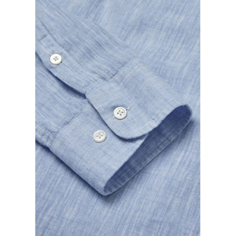 CottonLinen Shirt- GOTS Placid Blue 3