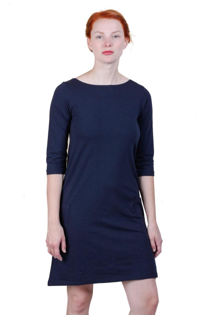 EM Mira Dress Navy 1