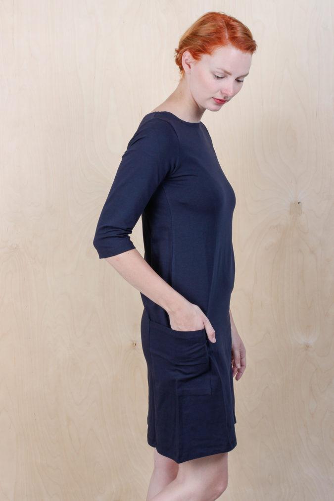 EM Mira Dress Navy 3