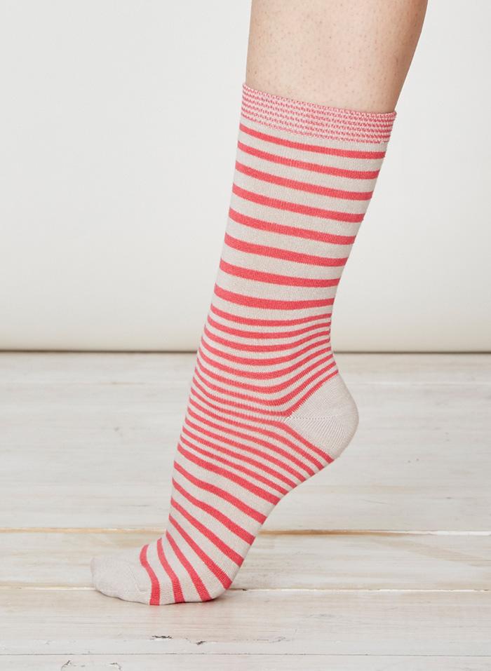 SPW220-Lillian-Bamboo-Socks-Raspberry-Side