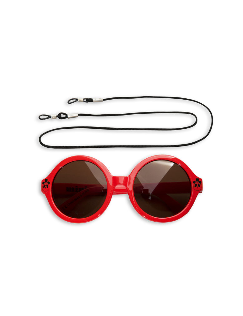 1716013542 1 mini rodini solid round sunglasses red