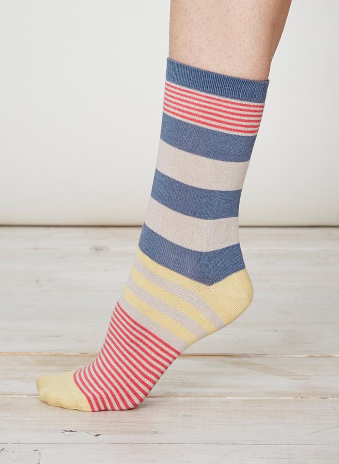 SPW218-Britta-Bamboo-Socks-Blue-Grey-Side