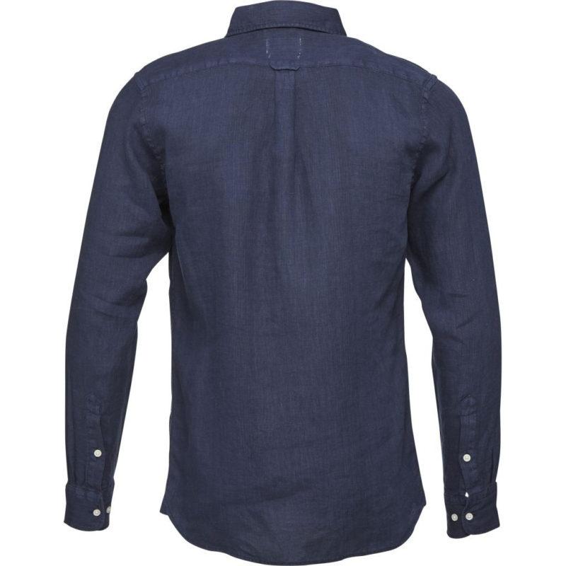 linneskjorta blå gall