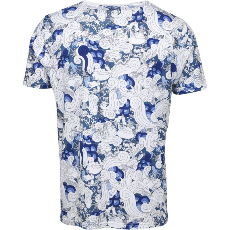 t-shirt blå gall