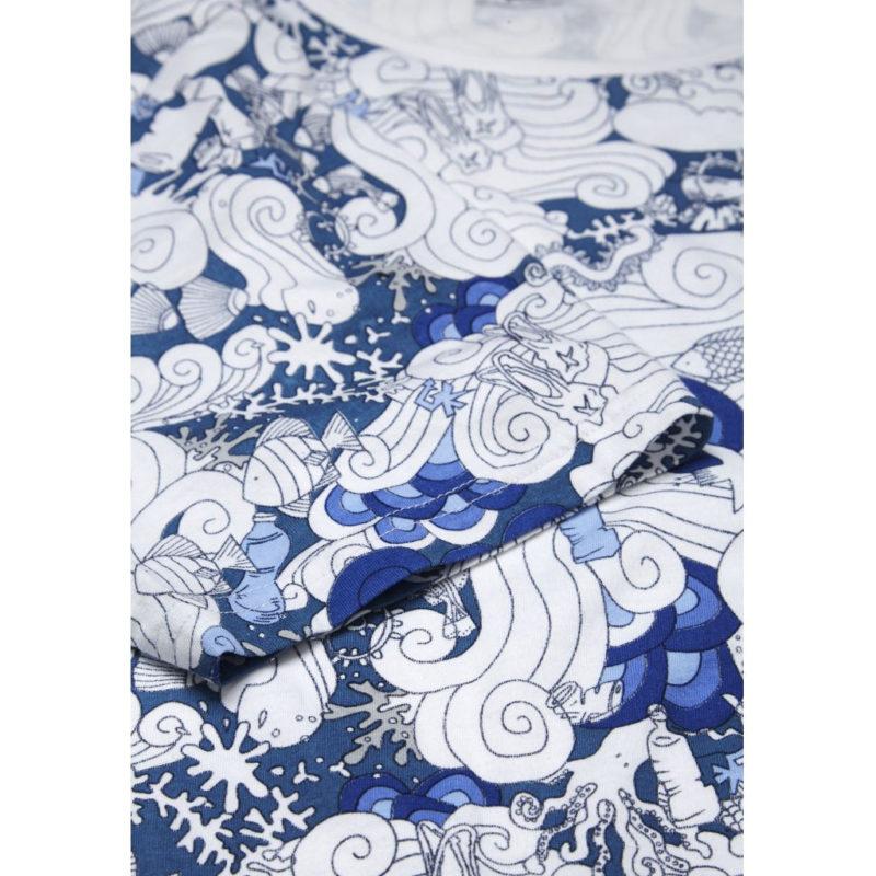 t-shirt blå gall1