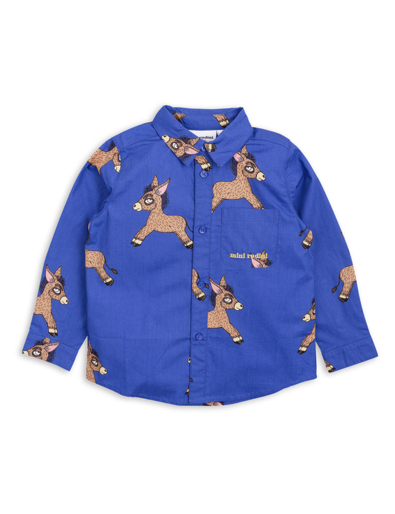 1822010160 1 mini rodini donkey woven shirt blue