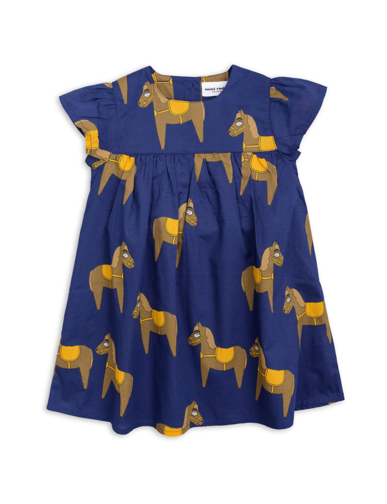 1825010567 1 mini rodini horse woven frill dress navy