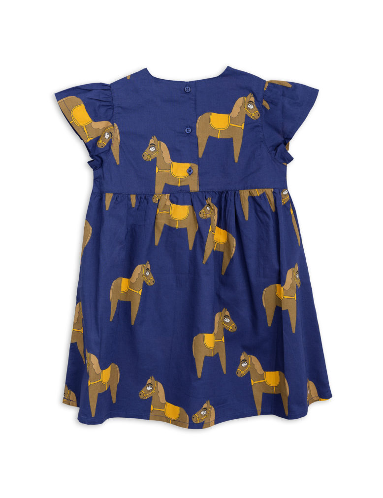 1825010567 2 mini rodini horse woven frill dress navy