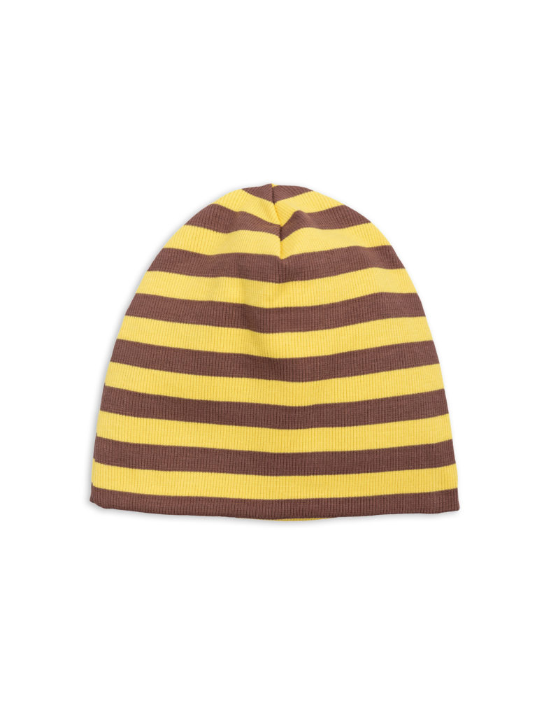 1826510123 2 mini rodini stripe rib beanie yellow