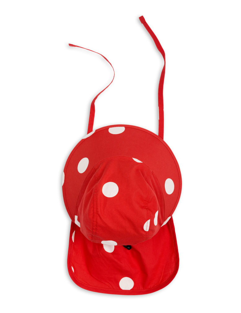 1826511542 2 mini rodini dot sun cap red