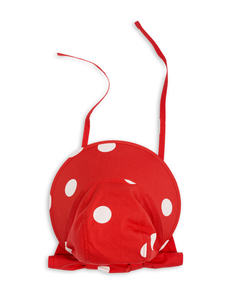 1826511542 3 mini rodini dot sun cap red