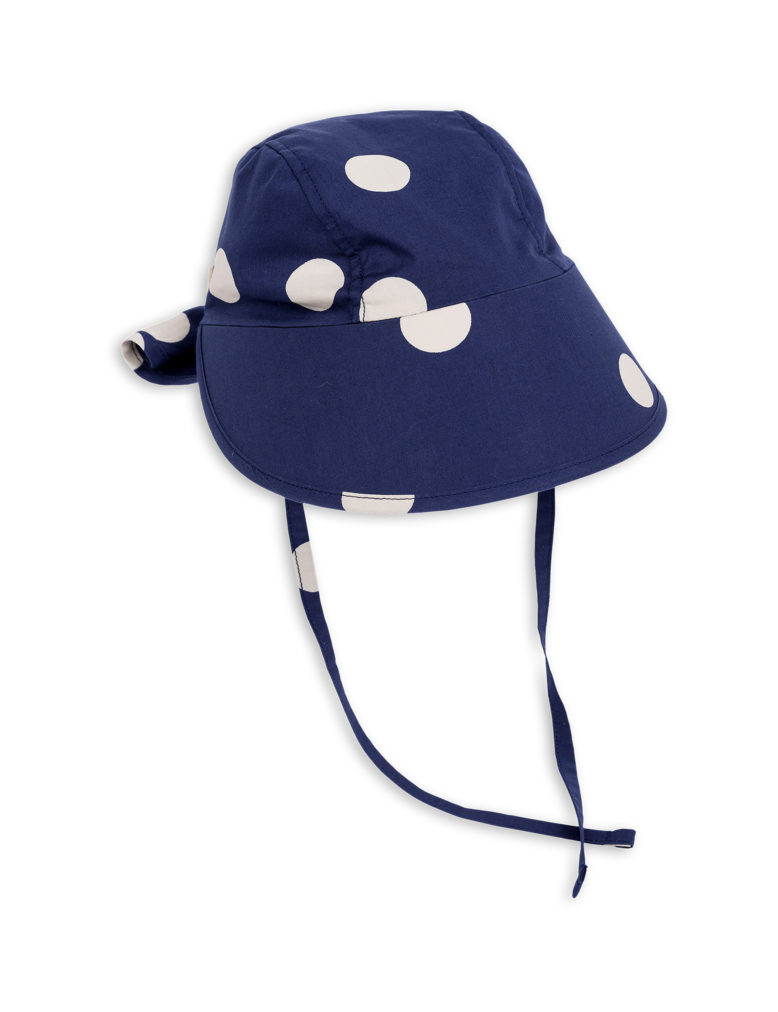 1826511567 1 mini rodini dot sun cap navy