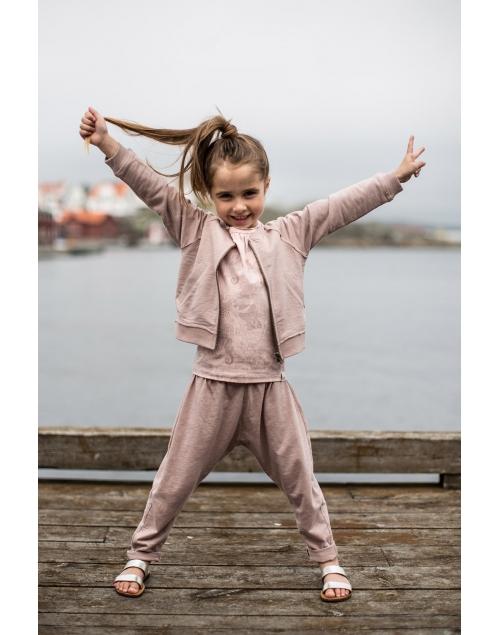 BILLY Sweatshirtjacka i ekologisk bomull - Vintage Pink