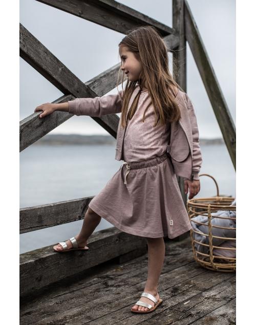 BILLY Sweatshirtjacka i ekologisk bomull - Vintage Pink .png 4