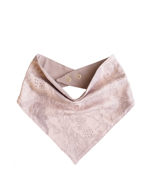 carfdreggel-lapp i ekologisk bomull - print Vintage pink