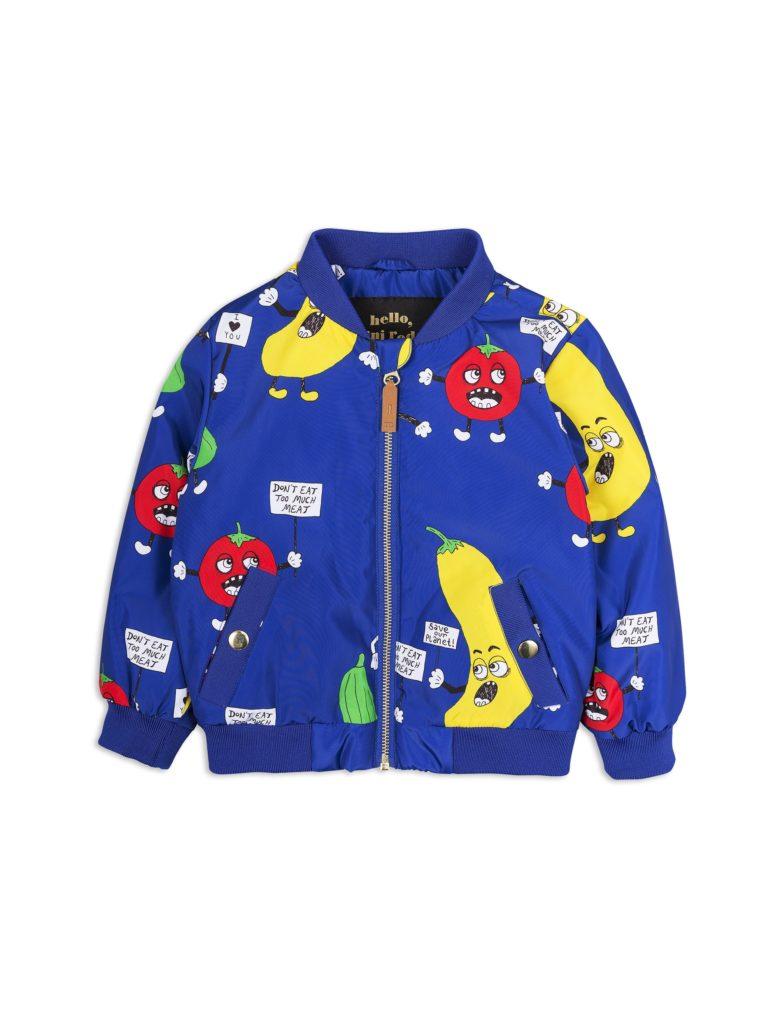 1821010660 1 mini rodini veggie baseball jacket blue