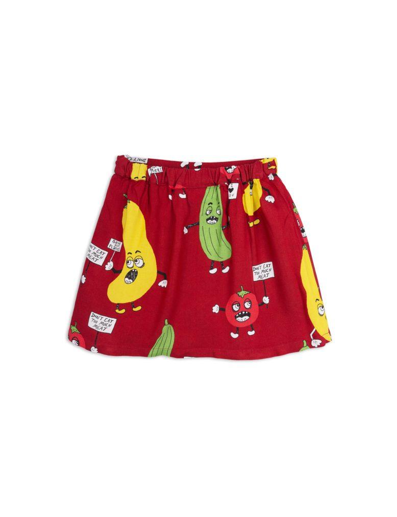 1823010942 2 mini rodini veggie woven skirt red