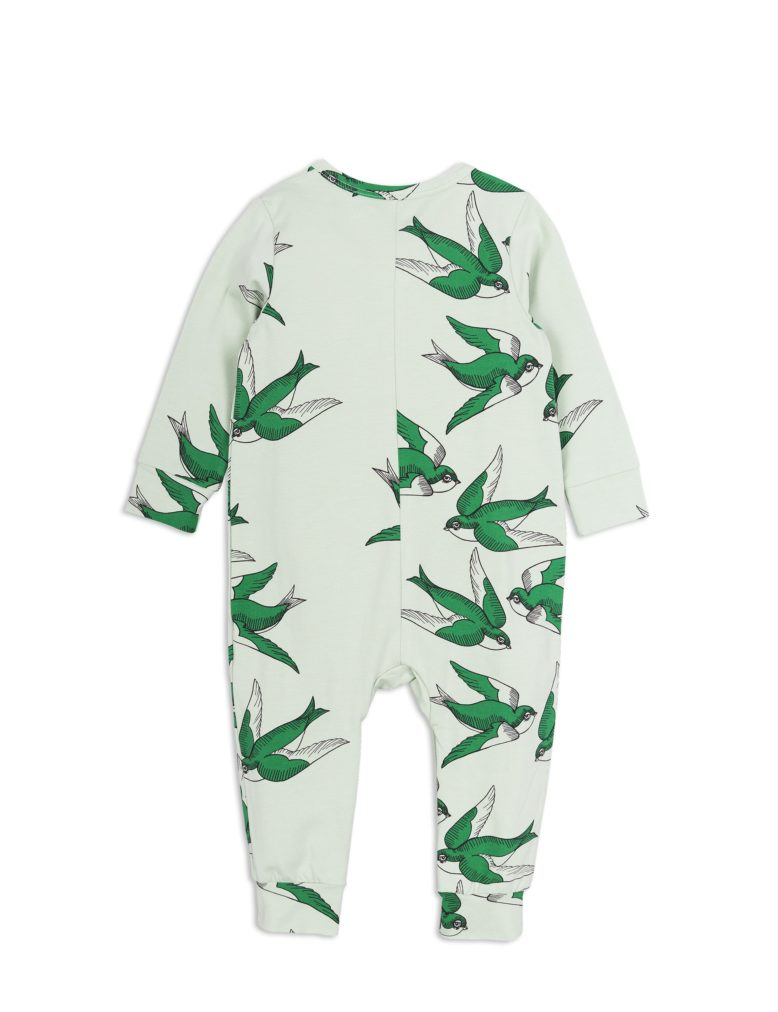 1824014875 2 mini rodini swallows jumpsuit green