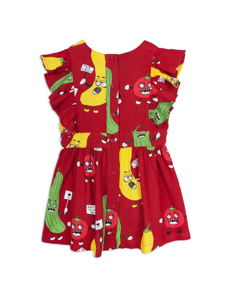 1825010042 2 mini rodini veggie woven ruffled dress red