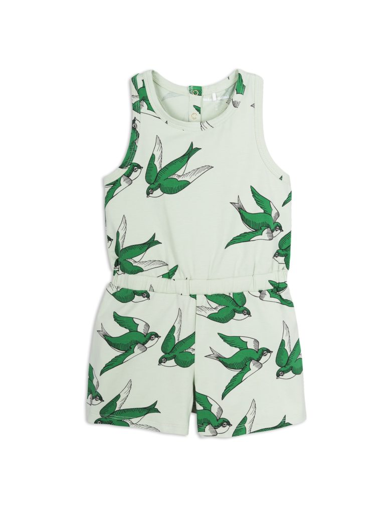 1825014175 1 mini rodini swallows summersuit green