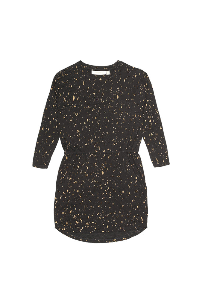 235-199-755-Dress-Vigdis-Jet-Black-AOP-Flakes-Gold-Packs