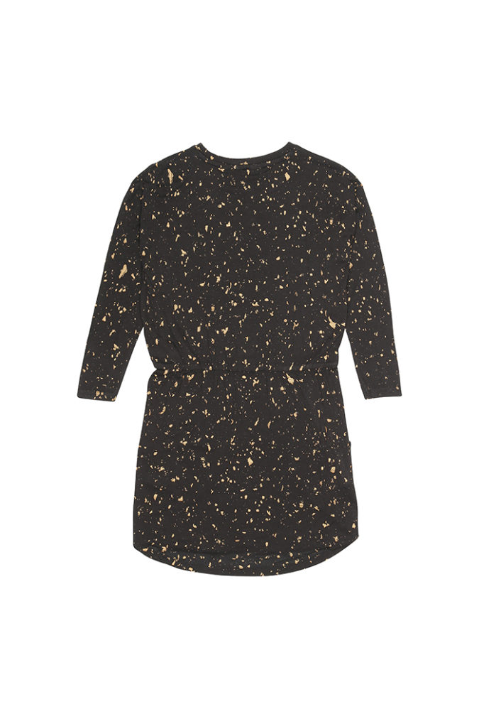 235-199-755-Dress-Vigdis-Jet-Black-AOP-Flakes-Gold-Packs1