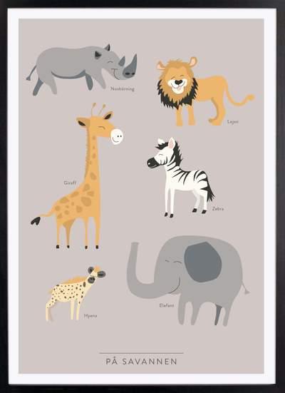 Kunskapstavlan-pa-savannen-poster_400x